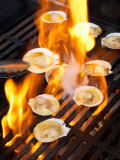 Scallops on Barbeque Photographic Print by David Wall