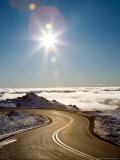 Bruce Road and Clouds, Mt Ruapehu, Central Plateau, North Island, New Zealand Photographic Print by David Wall