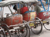 Bicycle Taxi, Khon Kaen, Thailand Photographic Print by Gavriel Jecan