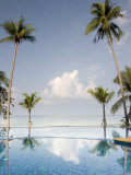 Palm Trees and Swimming Pool, Ko Chang, Kho Chang Island, Thailand Photographic Print by Gavriel Jecan