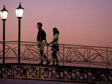 Couple on Bridge, Oranjestad, Aruba Photographic Print by Sergio Pitamitz