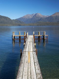 Jetty, Lake Te Anau, Fjordland, South Island, New Zealand Photographic Print by David Wall