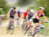 Mountain Bike Race, Bannockburn, near Cromwell, Central Otago, South Island, New Zealand Photographic Print by David Wall
