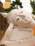 Reclining Buddha Statue at Ayuthaya, Siam, Thailand Photographic Print by Gavriel Jecan