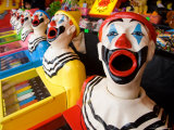 Laughing Clowns Side-Show, Rotorua, Bay of Plenty, North Island, New Zealand Photographic Print by David Wall
