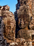 Stone Carvings in Bayon Temple, Angkor Thom near Angkor Wat, Cambodia Photographic Print by Tom Haseltine