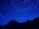 Star Swirls over Masherbrum, Hushe Peaks Area of Karakoram Himalaya, Pakistan Photographic Print by Russell Gordon
