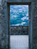 Castle Doorway of 15th Century Castello Aragonese, Ischia, Campania, Italy Photographic Print by Walter Bibikow