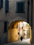 Person and Archway, Panzano, Chianti Region, Tuscany, Italy Photographic Print by Janis Miglavs