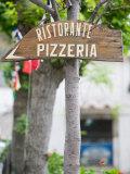 Pizzeria Sign, Positano, Amalfi Coast, Campania, Italy Photographic Print by Walter Bibikow