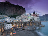 Evening Town View, Atrani, Campania, Italy Photographic Print by Walter Bibikow