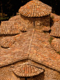 Tile Roof, Karitena, Peloponnese, Central Arcadia, Greece Photographic Print by Walter Bibikow