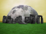 Full Moon over Stonehenge, England Photographic Print by Bill Bachmann