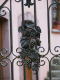 Vineyard Gate Detail, Eguisheim, Haut Rhin, Alsace, France Photographic Print by Walter Bibikow