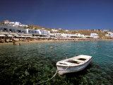 Platis Gialos Beach, Mykonos, Cyclades Islands, Greece Photographic Print by Walter Bibikow