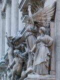 Statue Detail of the Opera Garnier, Opera, Paris, France Photographic Print by Walter Bibikow