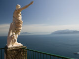 Ceasar Statue Above the Bay of Naples, Ceasar Augustus Hotel, Anacapri, Capri, Campania, Italy Photographic Print by Walter Bibikow