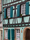 Half Timbered Houses of Petite Venise Area, Colmar, Haut Rhin, Alsace, France Fotoprint van Walter Bibikow