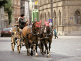 Horse Drawn Carriages, Weimar, Thuringen, Germany Photographic Print by Walter Bibikow