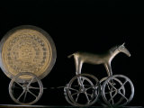 Solar Disk with Chariot and Horse Replica, Bronze Age, Germany Photographic Print by Kenneth Garrett