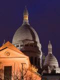 Basilique du Sacre Coeur, Place du Tertre, Montmartre, Paris, France Photographic Print by Walter Bibikow