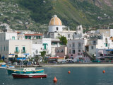 Town View from Fishing Port, Forio, Ischia, Bay of Naples, Campania, Italy Photographic Print by Walter Bibikow