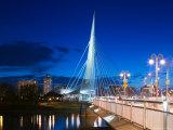 Esplanade Riel Pedestrian Bridge, Winnipeg, Manitoba Photographic Print by Walter Bibikow