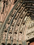 Details of the East Facade, Cathedrale Notre Dame, Strasbourg, Haut Rhin, Alsace, France Photographic Print by Walter Bibikow