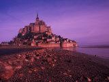 Mont St. Michel Fortress, Normandy, France Fotodruck von Bill Bachmann