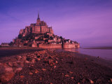 Mont St. Michel Fortress, Normandy, France Photographic Print by Bill Bachmann
