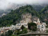 Town View with Fog, Positano, Amalfi Coast, Campania, Italy Photographic Print by Walter Bibikow