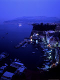Grand Marina at Night, Sorrento, Italy Photographic Print by Chuck Haney
