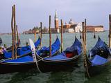 Gondolas near Piazza San Marco, Venice, Italy Fotografisk tryk af Tom Haseltine