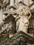 Statue at Duomo Cathedral, Ortygia Island, Syracuse, Sicily, Italy Photographic Print by Walter Bibikow