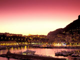 Harbor at Sunset, Monte Carlo, Cote D&#39;Azure, Monaco Photographic Print by Sergio Pitamitz