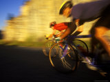 Pair of Road Cyclists Speed Downhill Stampa fotografica di Chuck Haney