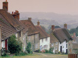 Town Architecture, Shaftesbury, Gold Hill, Dorset, England Photographic Print by Walter Bibikow
