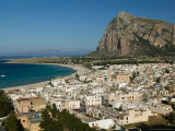 Resort Town View and Monte Monaco, San Vito Lo Capo, Sicily, Italy Photographic Print by Walter Bibikow