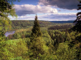Ancient Valley of Gauja River, Guaja National Park, Painter's Hill, Latvia Photographic Print by Janis Miglavs