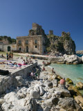 Old Tuna Factory, Tonnara Scopello, Scopello, Sicily, Italy Photographic Print by Walter Bibikow
