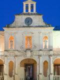 Details of Palazzo Vescovile, Baroque Piazza del Duomo, Lecce, Puglia, Italy Photographic Print by Walter Bibikow
