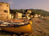 Fishing Boats, Riviera Di Ponente, Laigueglia, Liguria, Portofino, Italy Photographic Print by Walter Bibikow