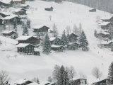 Ski Chalets, Grindelwald, Bern, Switzerland Photographic Print by Walter Bibikow