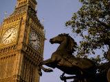 Big Ben Clock Tower, London, England Photographic Print by Walter Bibikow