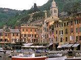 Harbor Front, Portofino, Riviera di Levante, Liguria, Italy Stampa fotografica di Walter Bibikow