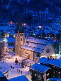 Parish Church, Zermatt, Valais, Wallis, Switzerland Photographic Print by Walter Bibikow