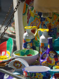 Ceramic Wares For Sale, Taormina, Sicily, Italy Photographic Print by Walter Bibikow