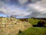 2nd Century Roman Wall, Hadrian's Wall, Northumberland, England Photographic Print by Walter Bibikow