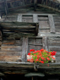 Detail of Old Home Construction, Hinterdorf, Zermatt, Switzerland Photographic Print by Lisa S. Engelbrecht