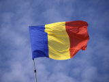 Romanian National Flag, Romania Photographic Print by Dave Bartruff